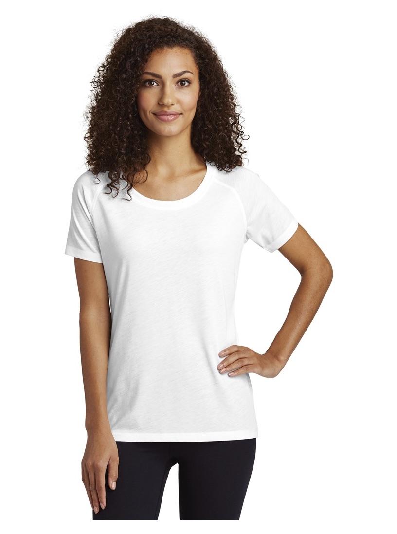 Sport-Tek® Ladies PosiCharge® Tri-Blend Wicking Scoop Neck Raglan Tee T-Shirts SanMar