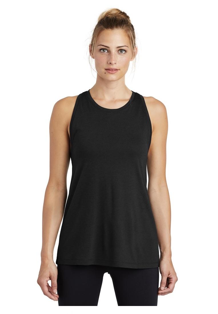 Sport-Tek ® Ladies PosiCharge ® Tri-Blend Wicking Tank Tanks T-Shirts SanMar